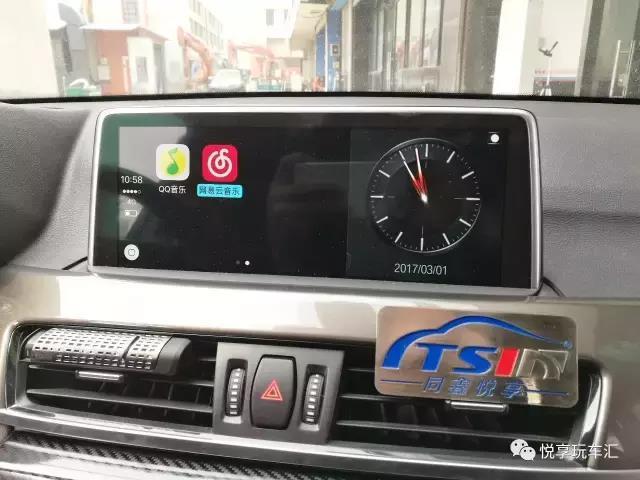 寶馬真會玩,有了carplay,屏幕用起來跟手機一樣方便了